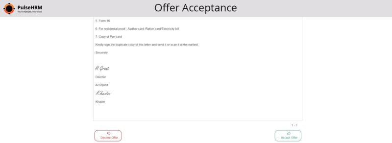 Offer-Acceptance