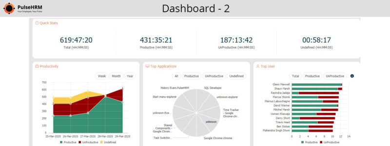 Employee Productivity Dashboard