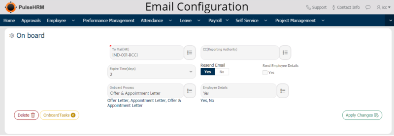 Email-Configuration