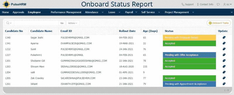 Onboard-Status-Report