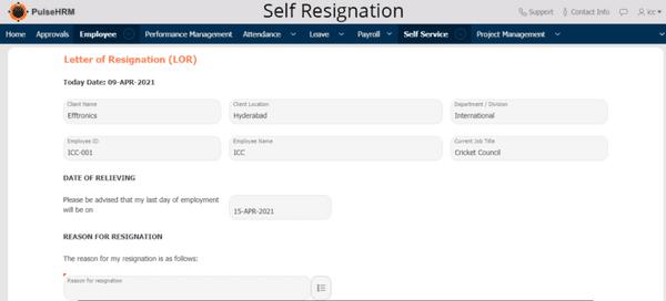 Self-resignation